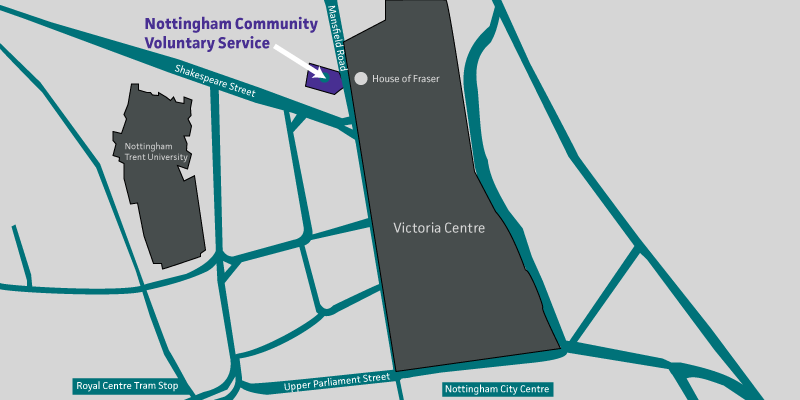 Map showing location of NCVS building