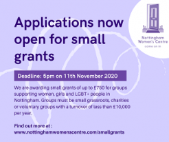 Nottingham Women's Centre Small Grants Fund