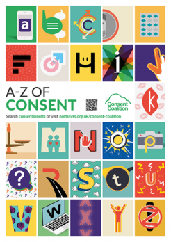 The A-Z of Consent campaign from The Consent Coalition