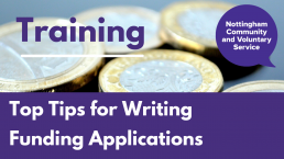 NCVS course Top Tips for Writing Funding Applications