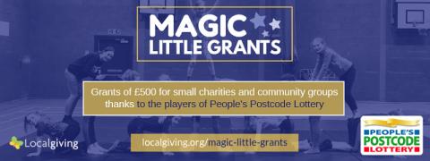 Magic Little Grants programme is open
