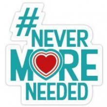 #NeverMoreNeeded logo