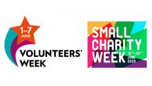 Volunteers' Week and Small Charity Week 2020 logos